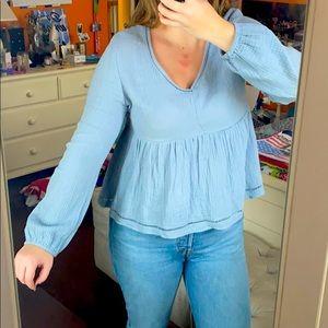 Dusty Blue Long Sleeve
